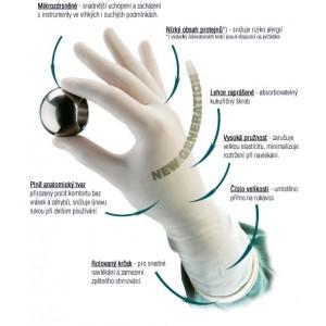 Chirurgické rukavice DONA Sensitive sterilní lehce pudrované