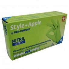 Jednorázové rukavice nitrilové nepudrované STYLE zelené (APPLE) - 100 ks