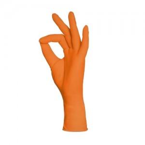 Jednorázové rukavice nitrilové nepudrované STYLE oranžové (ORANGE) - 100 ks