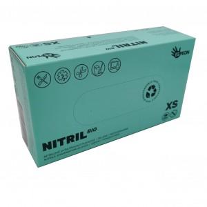 Jednorázové rukavice nitrilové nepudrované BIO zelené XS - 100 ks