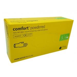 Jednorázové latexové rukavice COMFORT pudrované - 100 ks