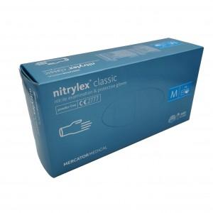 Jednorázové rukavice nitrilové nepudrované NITRYLEX Classic bílé - 200 ks