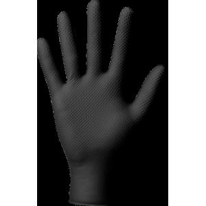 Ochranné nitrilové rukavice POWERGRIP černé - 50 ks