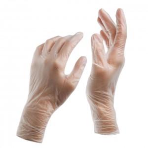 Jednorázové nepudrované vinylové rukavice DONA - 200 ks