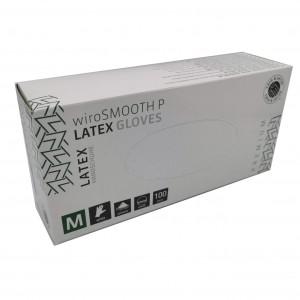 Jednorázové rukavice latexové pudrované wiroSMOOTH Premium - 100 ks